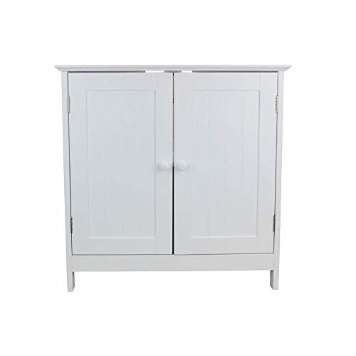 shelfmade Waschbeckenunterschrank Marbella aus Holz, weiß - Badunterschrank Unterschrank fürs Bad - Waschbecken Unterschrank (60 x 30 x 60 cm)