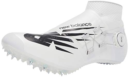 New Balance Men's Sprint Sigma Harmony V1 Spike Alternative Closure Running Shoe, White/Black, 4 M US