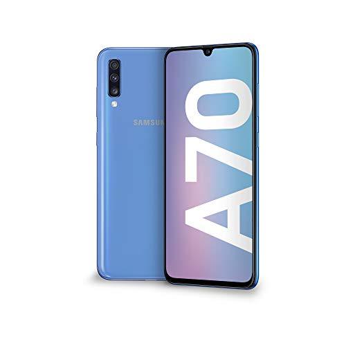 Samsung Galaxy A70 Display 6.7', 128 GB Espandibili, RAM 6 GB, Batteria 4500 mAh, 4G, Dual SIM Smartphone, Android 9 Pie, (2019) [Versione Italiana], Blue