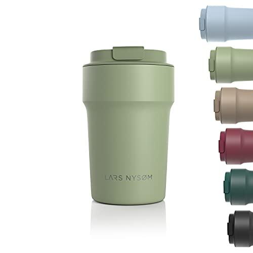 LARS NYSØM Thermo Coffee Mug-to-go 380ml | Tasse de Voyage sans BPA 0.38...