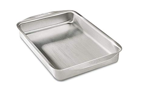 All-Clad 9000 D3 Ovenware 9x13 Inch Baking Pan, Stainless Steel, 9 by 13-Inch