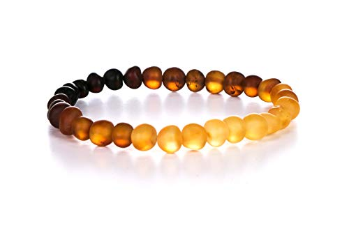 AMBERAGE Natural Baltic Amber Bracelet for Adults...