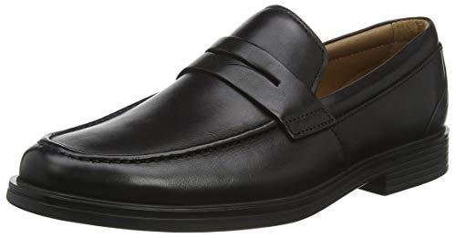 Clarks Un Aldric Step, Mocasines Hombre, Negro (Black Leather-), 42 EU