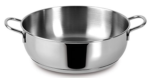 Lagostina Casseruola Semif 2 Manici Every Acciaio Inox 18 10 Cm24 Pentole Cucina, Inossidabile, Argento, 24 cm