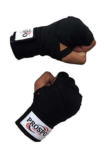 PROSPO Boxing Mexican Stretch/Handwraps/Spandex Bands/Hand Bandage/Protectors/Muay Thai/MMA/Kick Boxing/Cross Fit/Aerobics/Punch Bag Training/Speed Ball Training/ 180' - (Pack of 1 Pair)