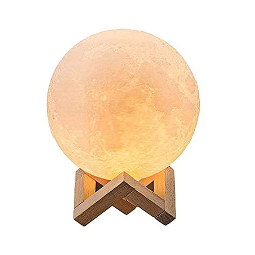 Mond Lampe 3d Druck, Mondlampe Kugel 20cm, Lunalamp mit Fernbedienung, Moonlight Lampe Dimmbar,...