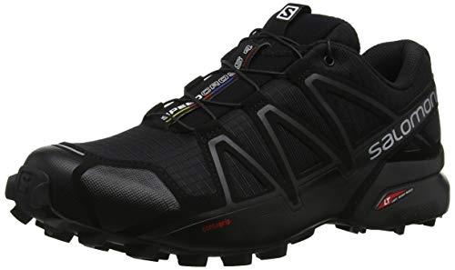 Salomon Speedcross 4 Hombre Zapatos de trail running, Negro...