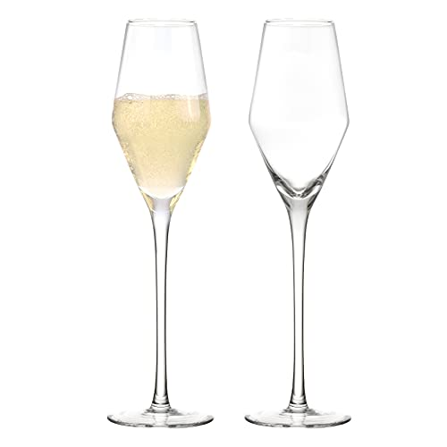 Joeyan Bicchieri da Champagne Set di 2-210ml Flûte Champagne - Calici da Champagne per Casa, Bar, Ristorante And Festa