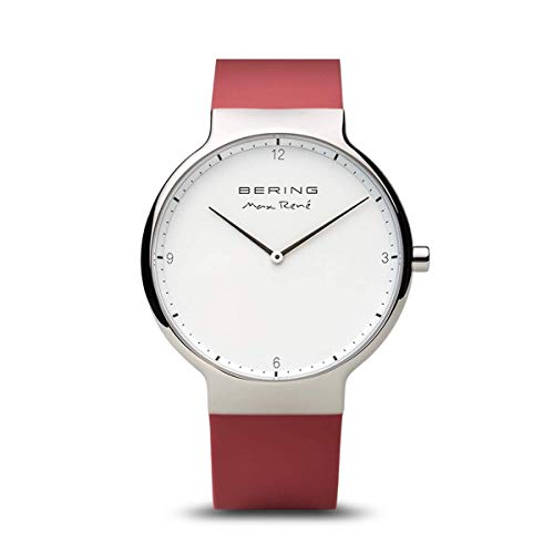 BERING Herren Analog Quarz Max René Collection Armbanduhr mit Silikon Armband und Saphirglas 15540-500