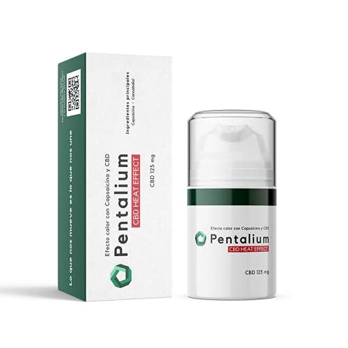 Pentalium CBD Heat Effect - Cannabidiol Crema para el Alivio de Dolores Musculares y Articulares - Pomada Antiinflamatoria con Cannabidiol y Capsaicina 50 g, CBD 250 mg