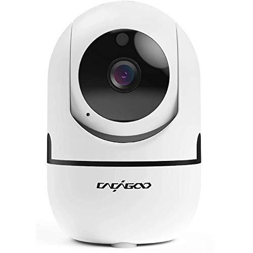 Cámara interior Wi-Fi, cámara de vigilancia CACAGOO 1080P, cámara ip wifi para mascotas y niños, monitor de bebé con visión nocturna y audio bidireccional