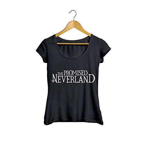 Camiseta baby look the promised neverland anime feminino preto tamanho:p