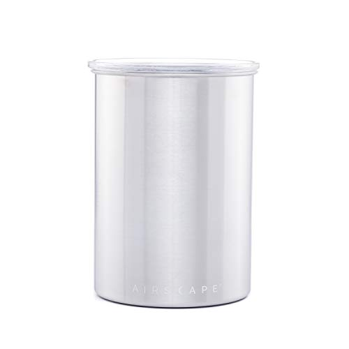 Product Image 3: Airscape Coffee and Food Storage Canister - Patented Airtight Lid Preserve Food Freshness with Two Way Valve, Stainless Steel Food Container, Medium 7-Inch Can, Brushed Steel