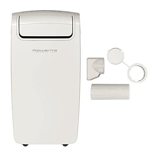 Rowenta Intense Cool Climatiseur portable ultra-compact, Puissance de refroidissement 2000W, Couvre des pièces de 65m3, Classe énergétique A, 3 en 1: climatiseur, déshumidificateur AU4010F0