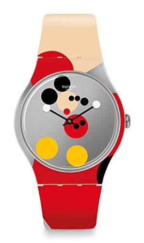 Swatch Armbanduhr Mirror Spot Mickey Limited Edition SUOZ290S