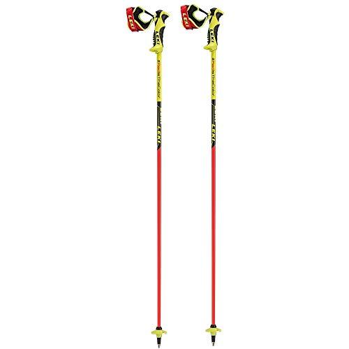 LEKI Worldcup Racing Comp - Bastoncini da sci per bambini, collezione 2019, red-neon yellow, 120 cm