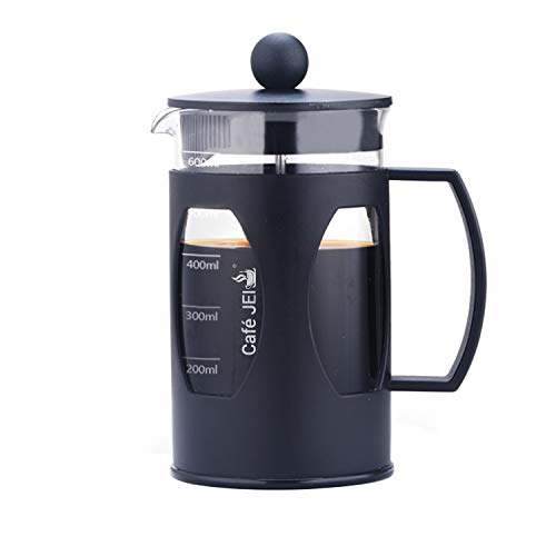 Cafe JEI French Press Coffee and Tea Maker 600ml with 4 Level Filtration System, Heat Resistant...