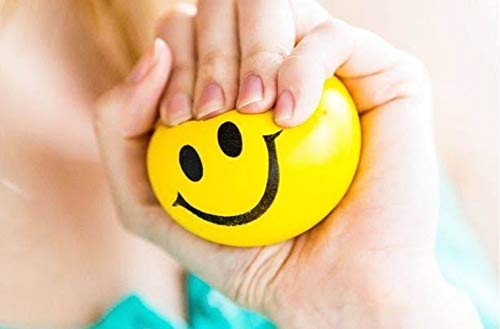 Anti Stress Balls, Stress Ball, Stress Relief Ball ,Smiley Squeezers,Hand Exercise Stress Balls, Perfect for Relieving Stress, Smiley Ball 1pc