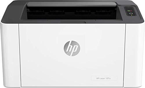 HP Laser 107a Stampante Laser Monocromatica, con Funzionalit di Sicurezza Dinamica, Bianca