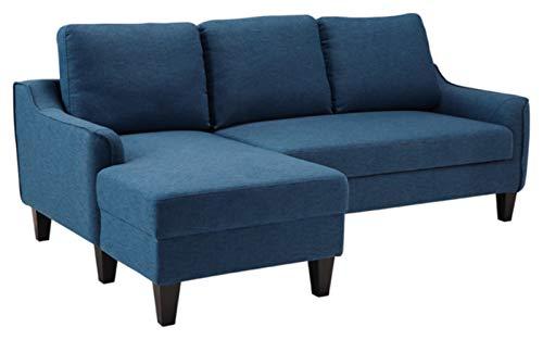 Signature Design by Ashley - Jarreau Mid-Century Upholstered Sofa Chaise Sleeper, Blue