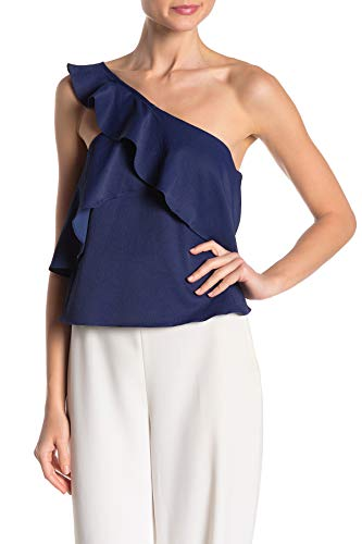 31YSgVHVuVL. SL500 One hsoulder styling Layered ruffle at top Hits at the natural waist