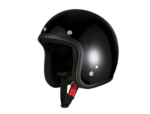 バイクパーツセンター バイクヘルメット ジェット ブラック 7504 FREE (頭囲 57cm~60cm未満)