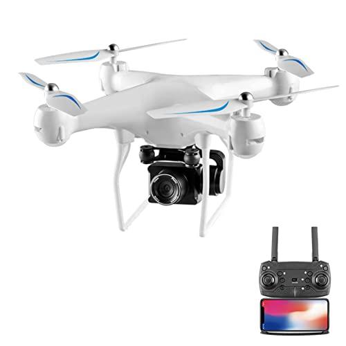 FMHCTN Drone con Telecamera PTZ ESC 4K, Trasmissione Live FPV WiFi, Elicottero quadricottero RC, Volo di 25 Minuti, Ritorno Automatico, Fotografia Aerea 1080, Mantenimento dell'altitudine Bianco