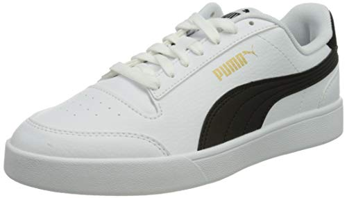 PUMA Shuffle, Zapatillas Unisex Adulto, Blanco (White Black Team Gold), 41 EU