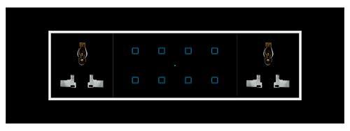 Smarteefi Touch 8 Port Modular WiFi Smart Switch Board, 6 Smart Switch, 2 Smart Plug, Compatible...