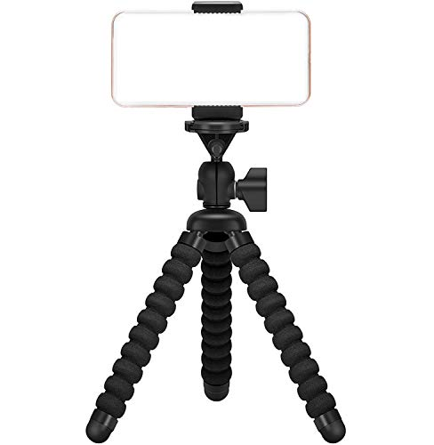 Ailun Digtal Camera Tripod Mount Stand Camera Holder for iPhone 11/11 Pro/11 Pro Max/X Xs XR Xs Max 8 7 Plus Digtal Camera Galaxy s20, s20+ S20Ultra s10 Plus S9+ Note 10 Camera and More Black