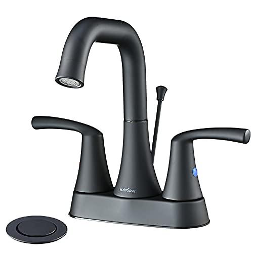 Bathroom Faucet Black-WaterSong Bathroom Sink Faucet 4 Inch...