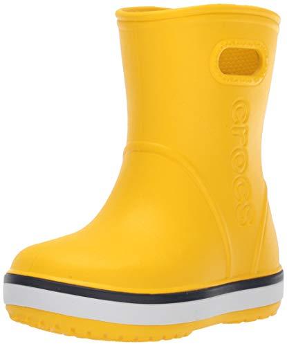 Crocs Crocband Rain Boot Kids, Botas de Agua Unisex Niños, Amarillo...