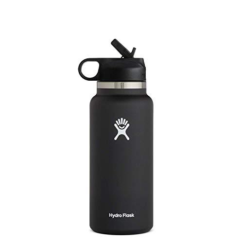 Hydro Flask Water Bottle - Wide Mouth Straw Lid 2.0 -...