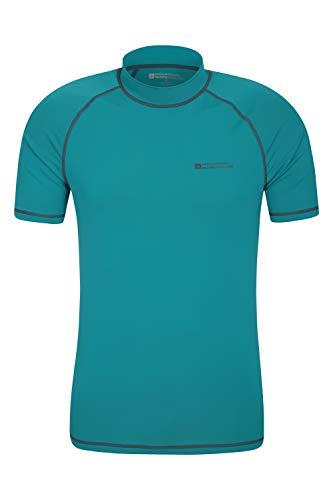 Mountain Warehouse UV-Badeshirt für Herren - Schwimmshirt mit UPF50+, schnelltrocknend, Flache Nähte UV Shirt - Ideal für Schwimmen und Tragen unter einem Schwimmanzug Hellblaugrün XX-Large