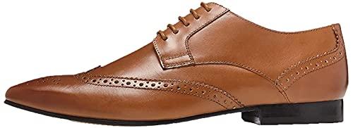 find. Zapato Blucher de Piel con Calados para Hombre, Marrón (Tan), 44 EU