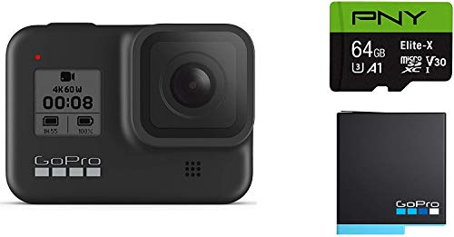 GoPro-HERO8-Black-Waterproof-Action-Camera-with-Touch-Screen-4K-Ultra-HD-Video-12MP-Photos-1080p-Live-with-Accessory-Bundle-1-Additional-GoPro-USA-Batteries-PNY-64GB-U3-microSDHC-Card