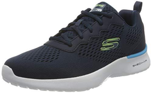 Skechers Skech-Air Dynamight, Zapatillas para Caminar Hombre, Azul Marino, 43 EU