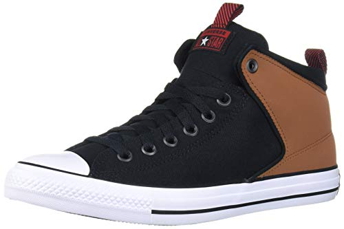 Converse Chuck Taylor All Star Street Suede Trim High Top Sneaker, Warm Tan/Black/White, 12 M US
