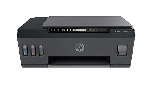 HP Smart Tank Plus 555 Stampante Multifunzione con Serbatoio a Getto di Inchiostro, Scanner, Fotocopiatrice, Velocit 11 ppm Nero e 5 ppm Colori, Wi-Fi, Wi-Fi Direct, App HP Smart, USB, Nero