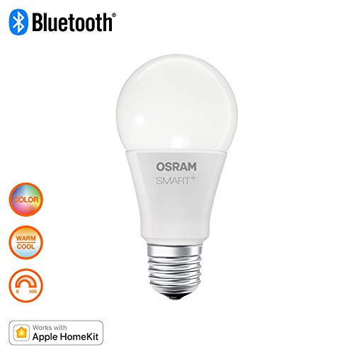OSRAM Smart+ Ampoule LED Connectée | Culot E27 | Forme Standard | Dimmable | 16 Millions de couleurs | 10W (équivalent 60W) | Bluetooth - Compatible Siri sur Apple & Alexa sur Android
