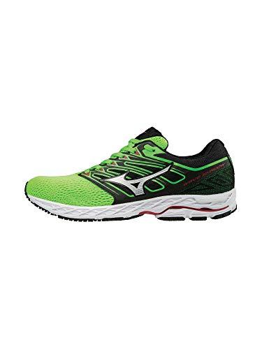 Mizuno Running Men's Mizuno Wave Shadow Running-Shoes,green slime/white,8 D US