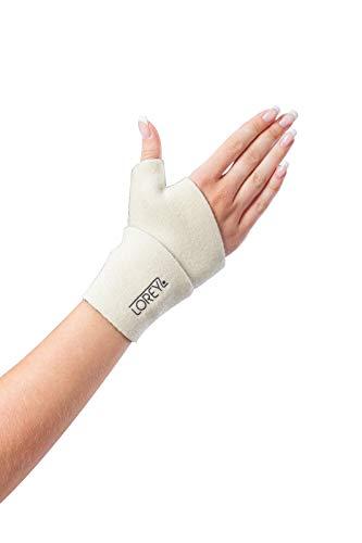 Hochwertige Daumenbandage aus Neopren, Handbandage, Handstütze (uni (S_L), Beige)