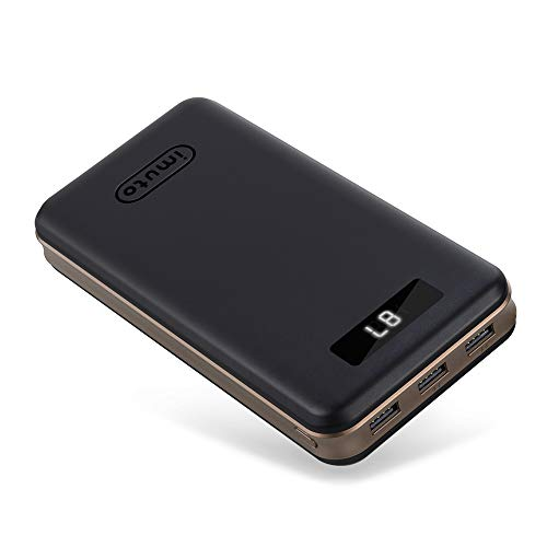 iMuto 30000mAh Portable Charger X6, 3-Port USB Output Power Bank External Battery Packs for iPhone 7, 7 Plus, 6S Plus, Samsung Galaxy S8, Note 8, iPad, Nintendo Switch, Tablets and More