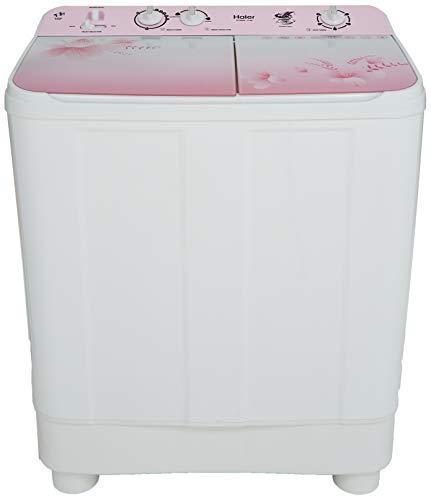 Haier 8 Kg Semi-Automatic Top Loading Washing Machine (HTW80-1159, Pink)