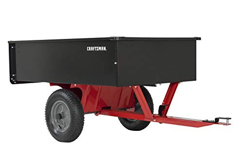 Craftsman CMX-GZ-BF-71-24355 Steel Tow Dump Cart, Black