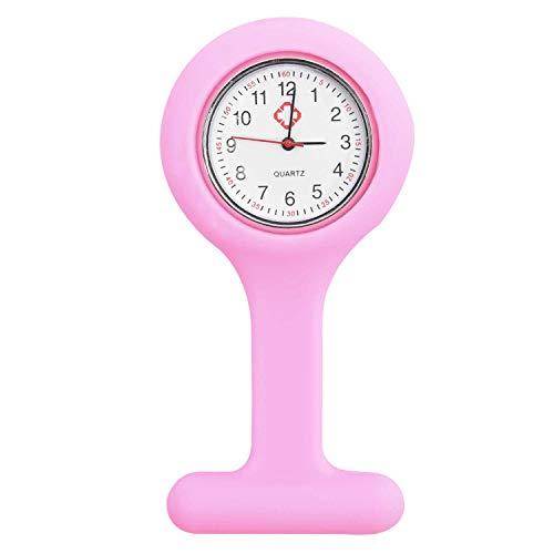 trixes Reloj Plástico Rosa Gel Silicona Broche Bolsillo Enfermeras Nuevo