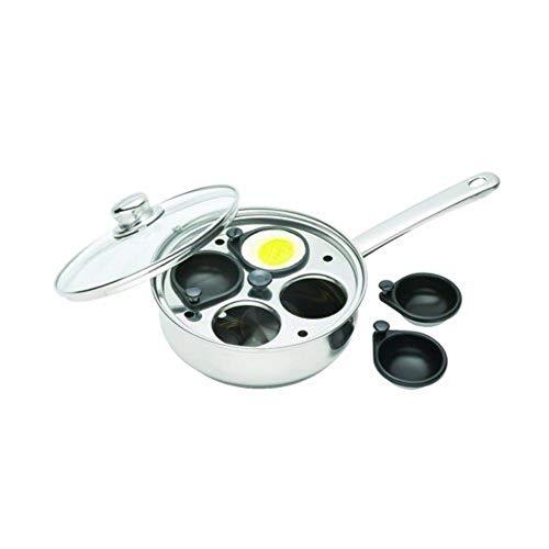 Clearview Pentolino per 4 uova in camicia, in acciaio INOX, 20,5 cm