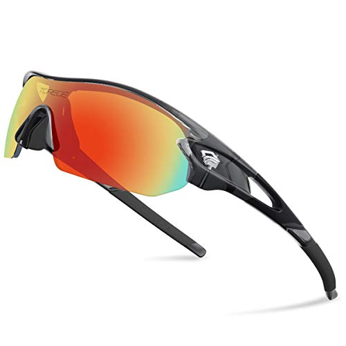 Torege Polarized Sports Sunglasses With...