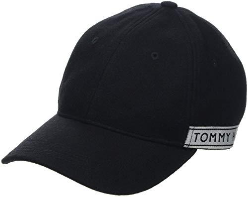 Tommy Hilfiger Damen TH Tape Baseball Cap, Schwarz (Black 002), One Size (Herstellergröße: OS)