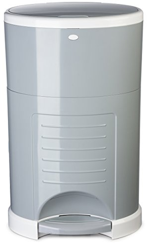 4. Dekor Plus Hands-Free Diaper Pail, Black